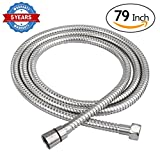 79 inch shower hose - HOMEIDEAS 79-Inch Shower Hose Bathroom Stainless Steel Extra Long Shower Head Hose Toilet Handheld Showerhead Sprayer Extension Replacement Part,Polished Chrome