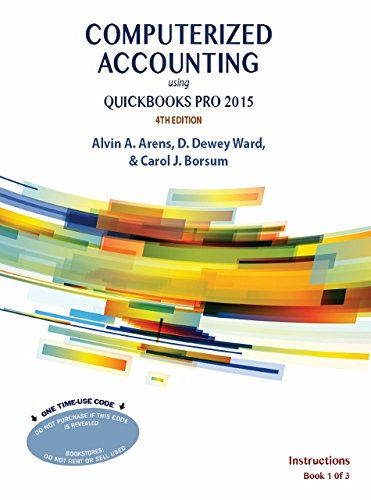 Computerized Accounting Using QuickBooks Pro 2015