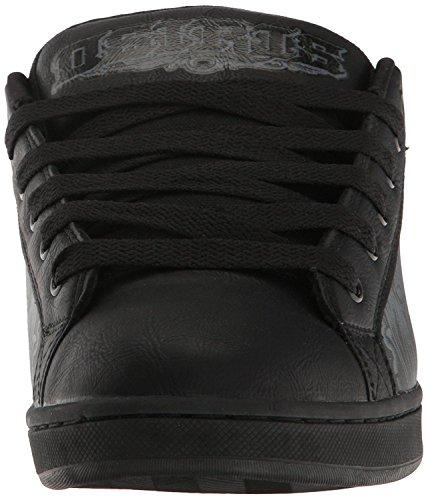 Osiris Troma Redux Schwarz Grau Leder Herren Skate Trainers Schuhe