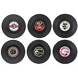 Spinning Hat Rockabilly Vinyl Coasters