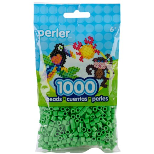 Perler 80-19080 Beads Green/Bright Green Bag