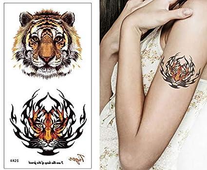 Tiger K426 - Tatuaje falso para brazo: Amazon.es: Belleza