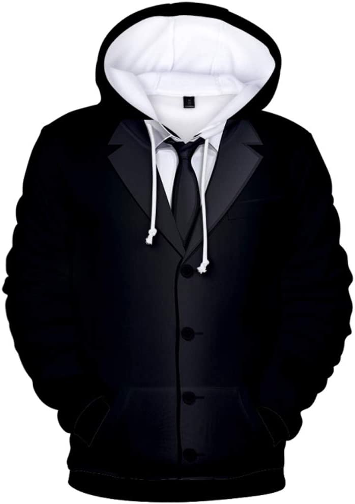 ZTXY Business Suit 3D Prints Pullover Winter Hoodies Jumpers