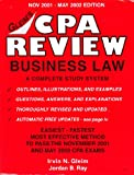 CPA Review Business Law : 2001-2002, Gleim, Irvin N. and Ray, Jordan B., 1581941498