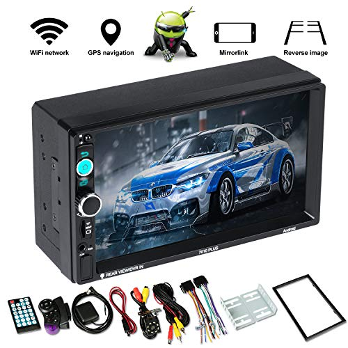 Android 9.0 GPS Navigation car Radio with Bluetooth 7 inch HD Double din car Stereo Receiver Audio Video Player FM Radio Mp3 MP5 / TF/USB/AUX/Rear View Camera