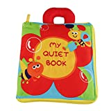 Baby Activity Book, JJOVCE Flower Stereo Book, Fabric Books for Baby Cloth Books for Baby, Portable Zipper