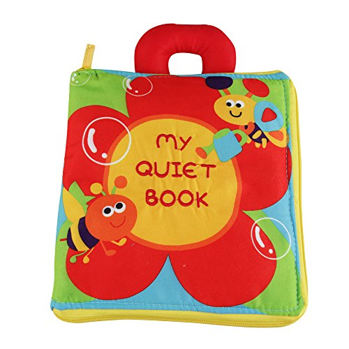 KAKIBLIN Quiet Book for Toddler Portable Baby Soft Activity Book NonToxic Early Learning Basic Life Skill Toy Flower