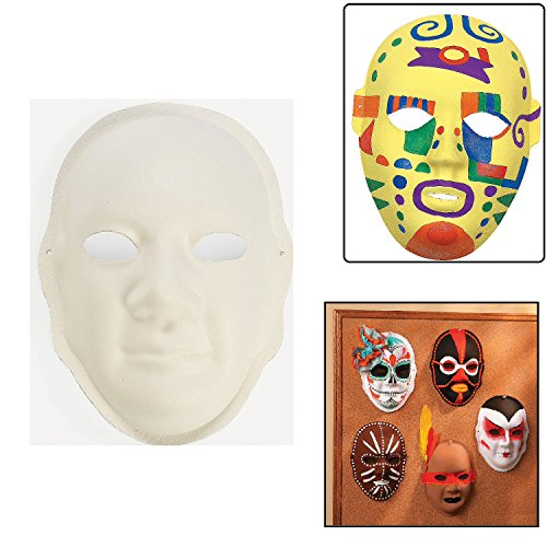 Own Mask Kit - Fun Express Decorate Your Own Paper Masks (6 Piece)