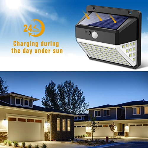 Solar Lights Outdoor Upgraded 82 Led Security Lights 3
