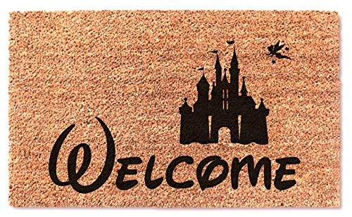 (MaxEcor Disney Castle Easy Clean Door Doormat New Welcome Home Door Mat Wedding Fun Gift)