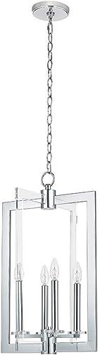 Catalina Lighting 22248-000 Modern 4-Light Pendant, 23 , Chrome