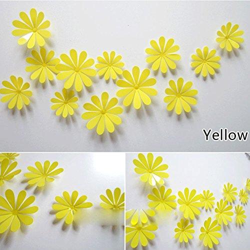Cheap  ROPALIA 3D DIY 12pcs Flowers Sticker Decor Mirror Wall Stickers Home Decoration