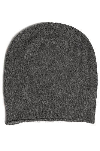 Fishers Finery Women's 100% Pure Cashmere Winter Slouchy Beanie (Iron)