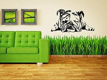 Wall Art Vinyl Graphics English Bulldog Wall Decal Bull Dog Brit Sticker Dog Puppy Breed Pet Animal Family Room Sticker Mural Wall Sticker Decal Mural 2922 Home Kitchen Amazon Com