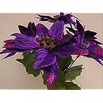 4-Bushes-PURPLE-Christmas-Glitters-Poinsettia-Artificial-Silk-Flower-12-Bouquet-7-2209-PU