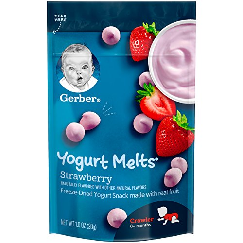 Yogurt Organic Snacks - Gerber Graduates Yogurt Melts, Strawberry, 1 oz (Pack of 7)