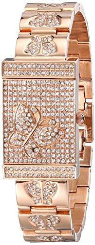 Burgi Women's BUR068RG Analog Display Japanese Quartz Rose Gold Watch