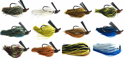 Bass Fishing Jigs - Wtrees Best Fishing Bass Jigs Set/Kit (Jig Kit D)