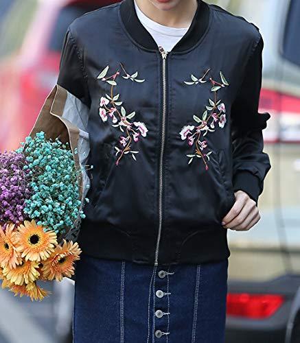 Manches Fashion Noir Automne Baseball Longues Vestes Legendaryman Coat Casual Blousons Femmes Bomber Court Outerwear Hauts Top Jacket Printemps Broderie Blouse Tunique Manteau gZ1ZBF
