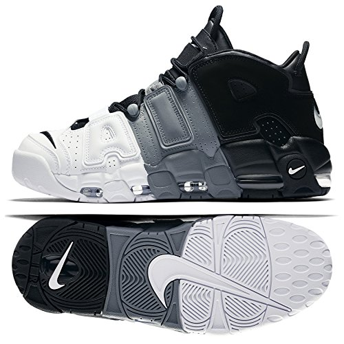 Nike Mens Luft Mer Uptempo 96 Basket Skor Svart / Sval Grå / Vit / Svart