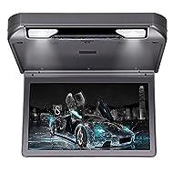 Roverone 13.3 Pouces 1080p Overhead Toit de voiture moniteur TFT avec HDMI SD USB IR FM Haut-parleur Flip Down lecteur Couleur grise