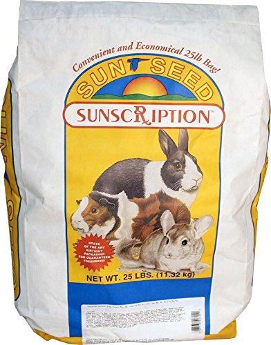 Sun Seed Company Sss44625 Sun Fun Daily Diet Guinea Pig Food, 25-Pound
