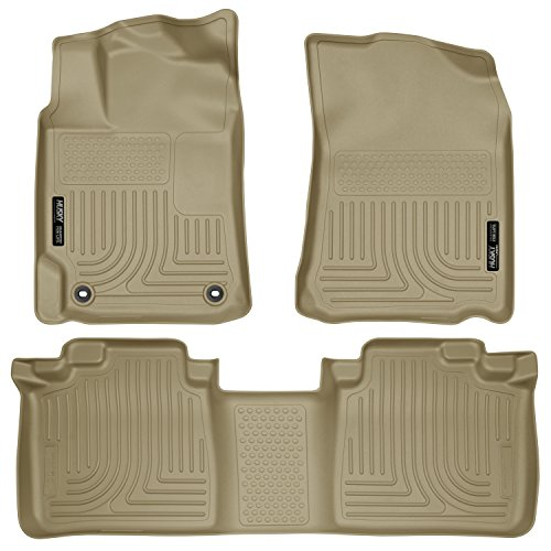 - Husky Liners 98903 Tan Front & 2nd Seat Floor Liners Fits 12-17 Camry