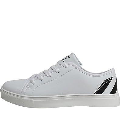 168a32ec268 DFND London Boys Casual Lace up Low Profile Trainers Shoes  Amazon.co.uk   Shoes   Bags