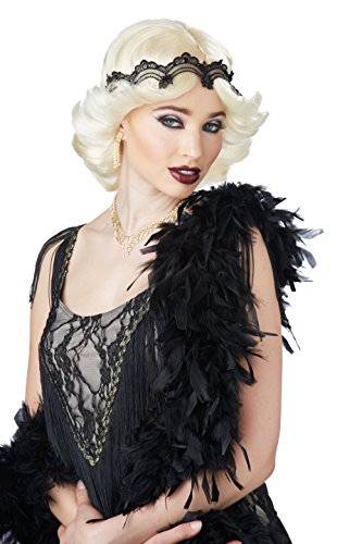 Glitz And Glamour Costumes (California Costumes Women's 20s Glitz and Glamour Wig and Headband, Blonde, One Size)