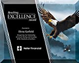8 X 10 Inch Full Color Eagle Glass Plaque , includes Personalization