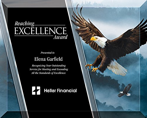 (8 X 10 Inch Full Color Eagle Glass Plaque , includes Personalization)