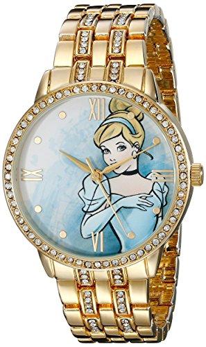 Disney Women's W001829 Cinderella Analog Display Analog Quartz Gold Watch