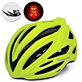 Victgoal Bike Helmet with Visor LED...