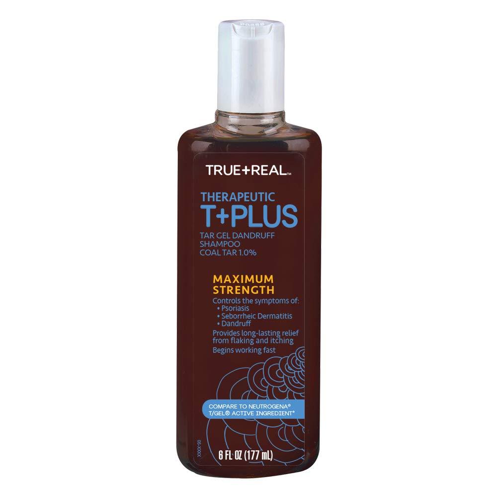 True+Real Therapeutic Tar Gel Dandruff Shampoo Coal Tar, 6 Ounce