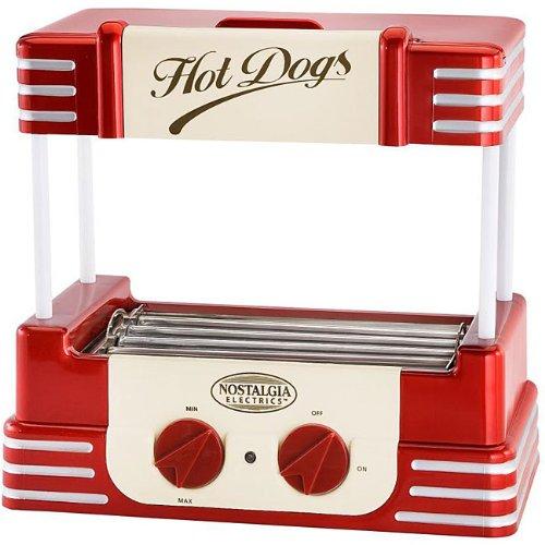 Nostalgia Electrics Retro Series Hot Dog Roller, Red