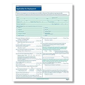 amazon com complyright california employment application 50 pk