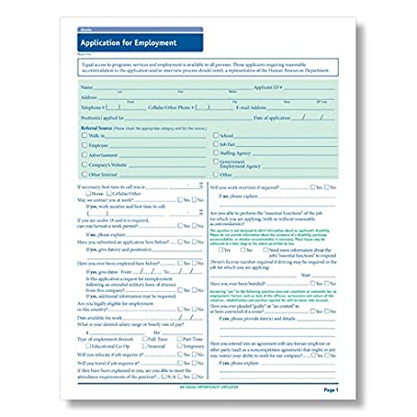 amazon com complyright texas employment application 50 pk