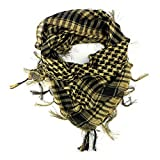 AmazingOS® Unisex Military Shemagh Arab Tactical Desert Keffiyeh Scarf Men's Wrap (Yellow Black)