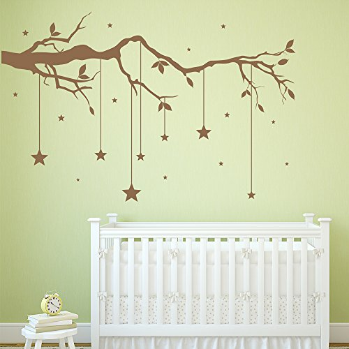 cker Hanging Stars Wall Decal Baby Nursery Home Decor available in 5 Sizes and 25 colors Large Turquoise (Turquoise Branch)