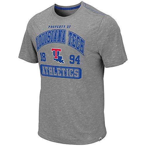 Colosseum Mens Louisiana Tech Bulldogs Campinas Short Sleeve Tee Shirt - 2XL