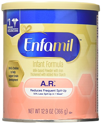 Enfamil A.R. Infant Formula - Clinically Proven to reduce Spit-Up in 1 week - Powder Can, 12.9 oz (Pack of 6)