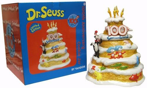 - Dr. Seuss 100th Anniversary Cookie Jar Limited Edition RETIRED Vandor