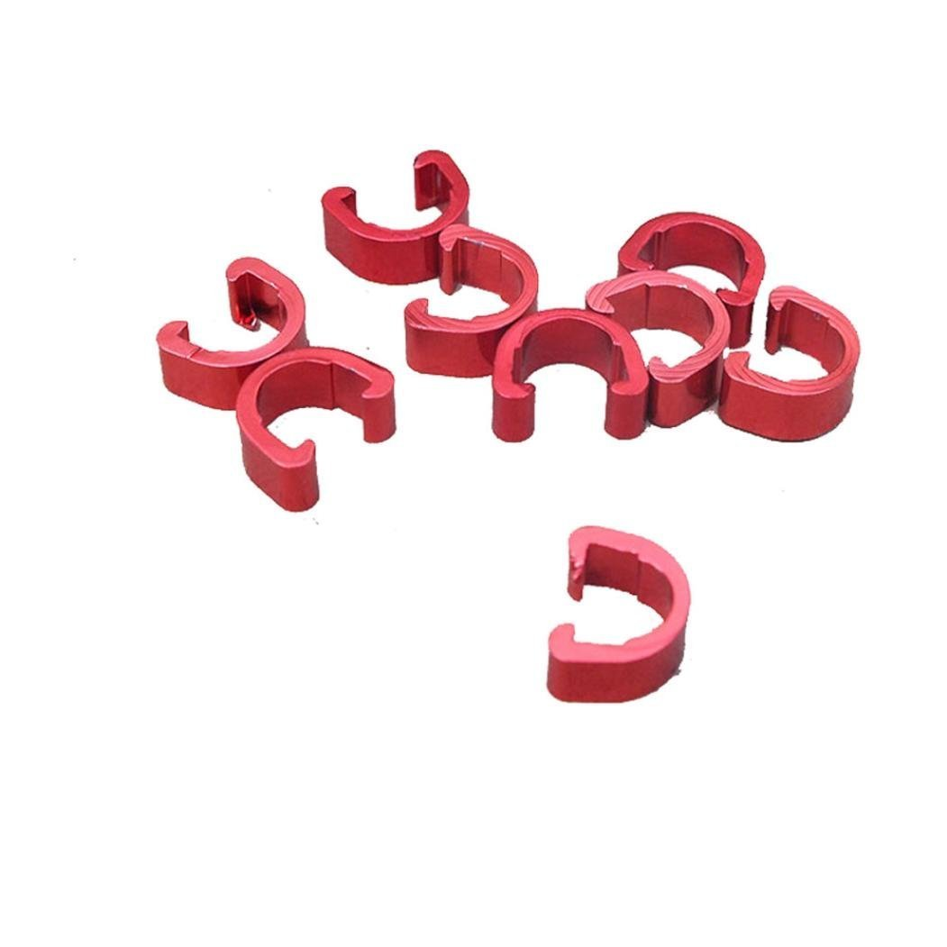Hunpta 10pcs Bike Bicycle Cycle MTB C-Clips Buckle Hose Brake Gear Cable Housing Guide