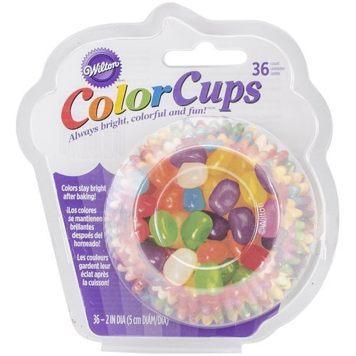 Wilton 415-2754 36 Count Color Cups Jelly Bean Baking Cups,