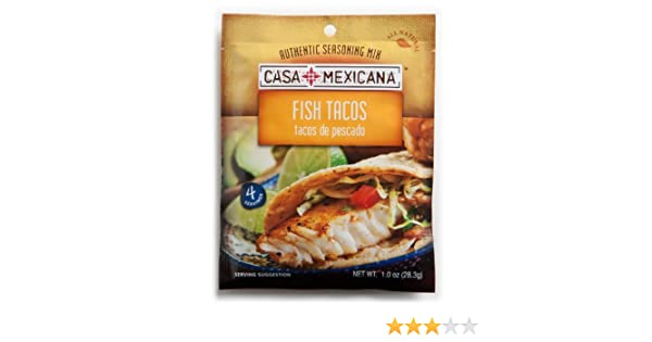 Amazon.com : Casa Mexicana Fish Tacos Seasoning Mix, 1-Ounce Bags (Pack of 12) : Mexican Seasoning : Grocery & Gourmet Food
