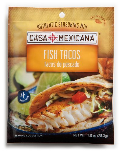 Casa Mexicana Fish Tacos Seasoning Mix, 1-Ounce Bags (Pack of 12) by Casa Mexicana