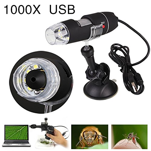1000 X 8 LED USB Digital Microscope Zoom 2MP Endoscope PC Camera Video Magnifier. 85196 85196-Hon012722