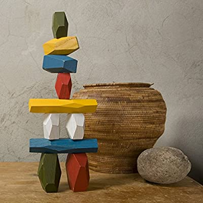 Areaware Balancing Blocks, Multi-Color: Home & Kitchen