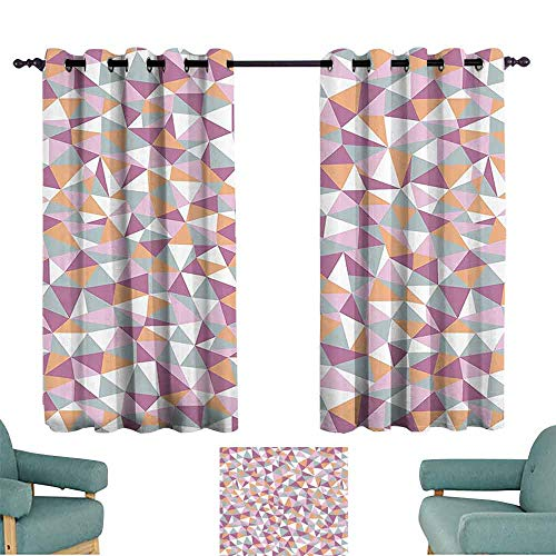 Geometric Decor Collection Light luxury high-end curtains Mosaic Endless Pattern Tile Simplicity Continuity Texture Effect Print Darkening and Thermal Insulating 55