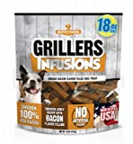 Betsy Farms Chicken Infusions Dog Jerky Treats With Bacon Filling, 18 Oz Chicken Jerky Treats For Dogs